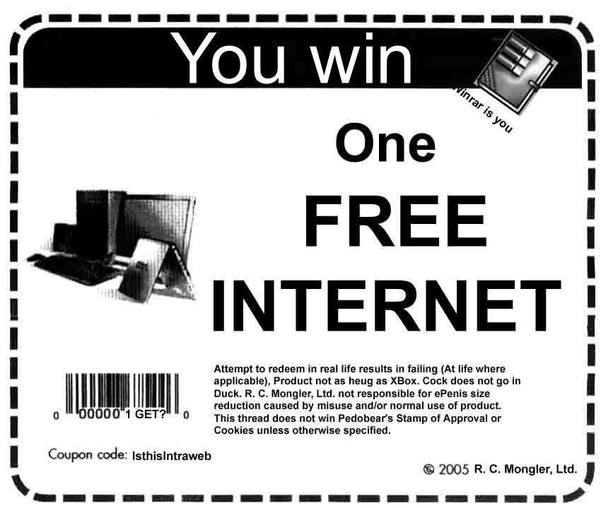 Afbeeldingsresultaat voor win the internet coupon