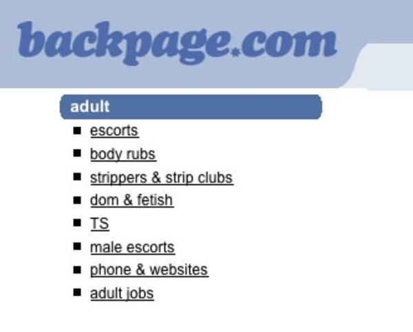 Backpage chat