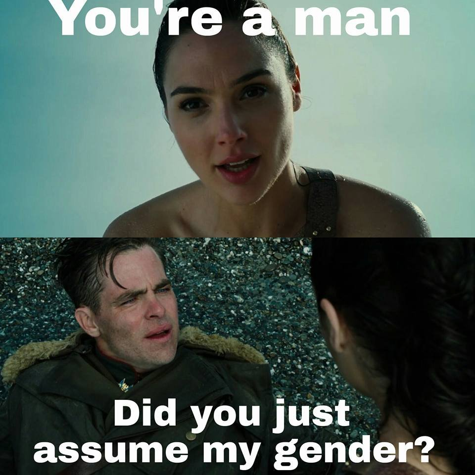 did you just assume my gender know your meme