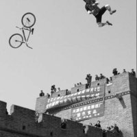 Great Wall of China bike jumper