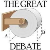 The Great Toilet Paper Debate