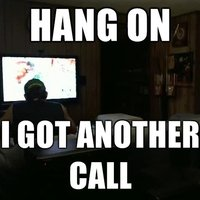 hang on.. got another call