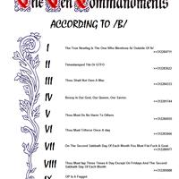 The Ten Commandments of /b/