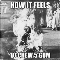 How It Feels To Chew 5 Gum