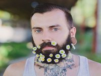 Flower Beard: The Latest Fashion Trend for Men