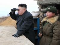 Kim Jong Un Looking Through Binoculars