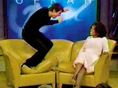 Tom Cruise Jumps On Oprah 39 S Couch Know Your Meme
