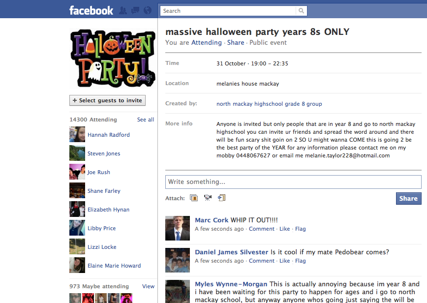 Massive Halloween Party Year 8s Only Know Your Meme