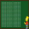 Bart Simpson's Chalkboard Parodies