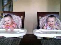 Identical Twin Babies Dancing in Synch!