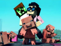 Minecraft Style with English Lyrics!