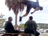 Jumping Over a Cop Doesn't End Well