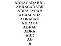"""Abracadabra"""