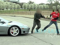 Water Bottle Prank on a Ferrari