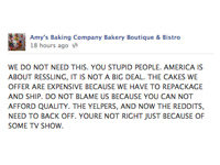 Amy's Baking Company Meltdown