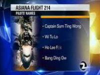 Fake Asiana Pilot Names