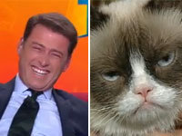 Australian Anchor Reacts to Grumpy Cat