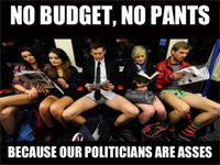 "Twitter Users: ""No Budget? No Pants"""