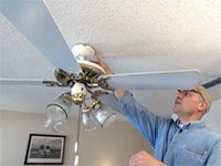 How To Get Yourself Stuck in a Ceiling Fan