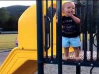 Kid FAILs on a Fire Pole, Gives Zero F**ks