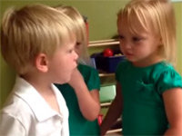 A Boy Argues with a Girl, Gets His Heart Poked