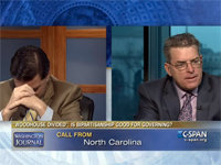 Mom Scolds Arguing Pundit Sons on C-SPAN