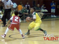 Ten-Year-Old LeBron James Jr. on the Court