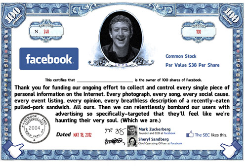 Mad Magazine: Facebook Stock Certificate