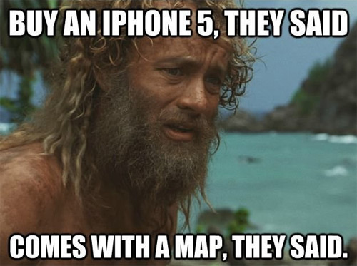 iOS6 Maps: Cast Away Edition