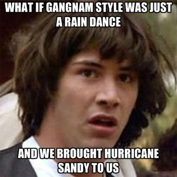 Conspiracy Keanu on Hurricane Sandy
