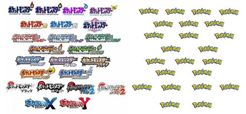 Evolution of Pokemon Logos