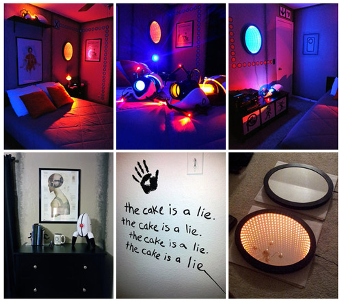 Look at This Portal-themed Bedroom