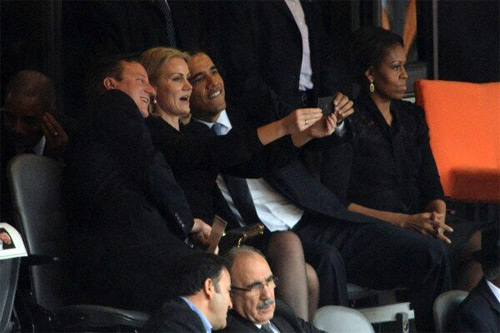Selfies at Funeral: Heads-of-State Edition
