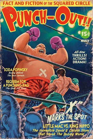 Punch-Out as a Pulp Comic