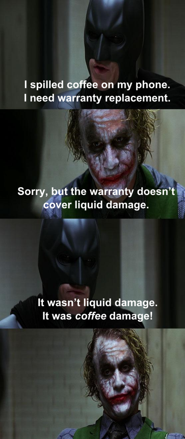 dark knight joker memes batman pane meme funny face coffee thought night know liquid bad does