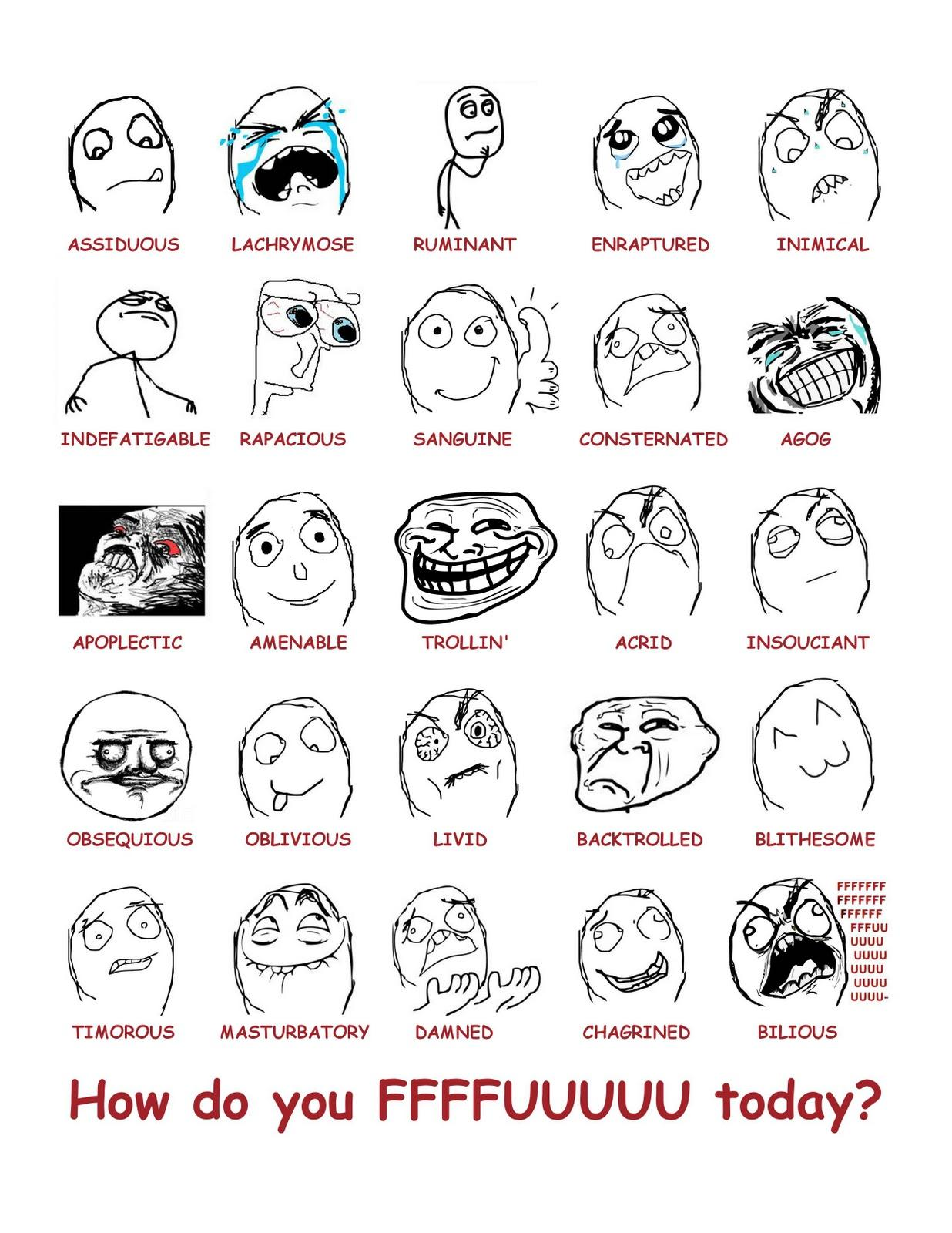 Troll Faces List