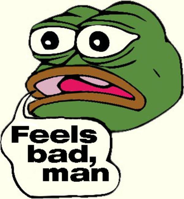 Image result for pepe memes feels badman