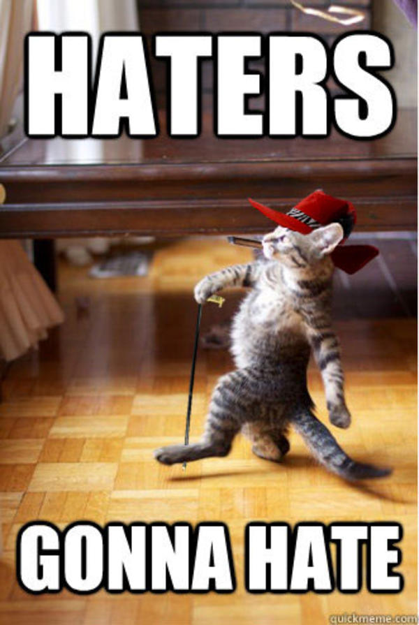 Haters gonna hate meme funny dating