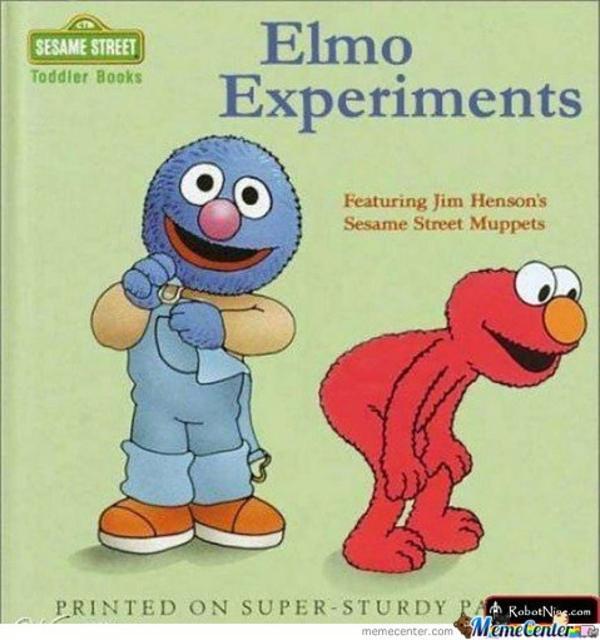 Funny Muppet Meme: Elmo Experiments