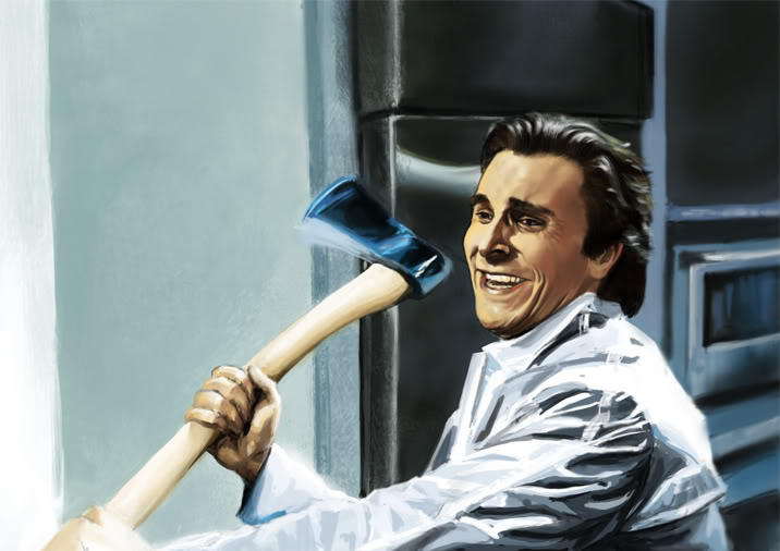 image 323144 patrick bateman with an axe know your
