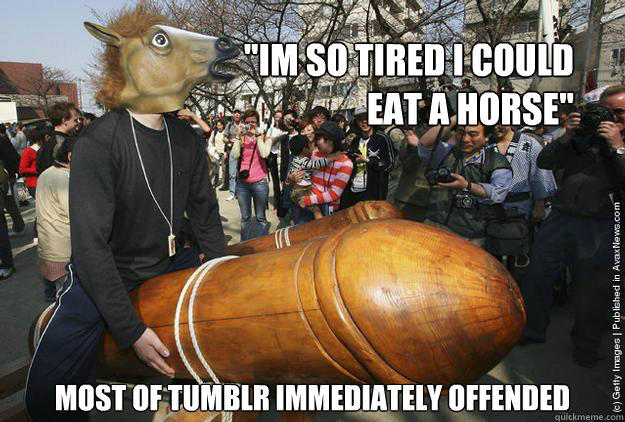 A Brief History Of Autism Research >> tumblr horse meat | 2013 Horse Meat Scandal | Know Your Meme