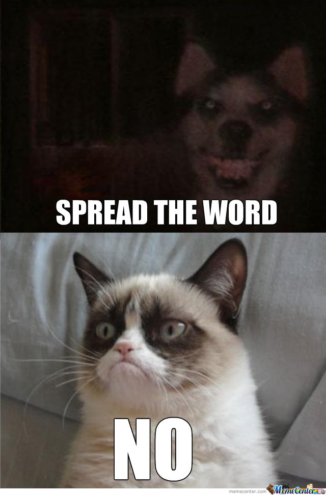 Dog Smiling Meme Smile Dog vs Grumpy Cat