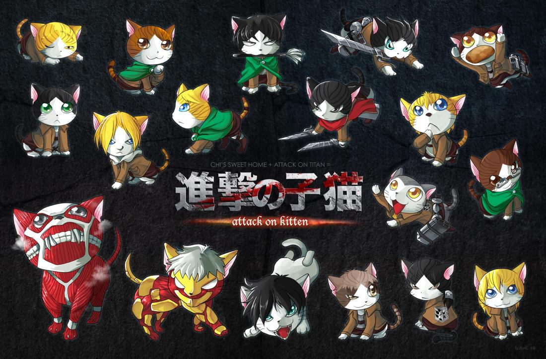 Attack On Kitten Attack On Titan Shingeki No Kyojin