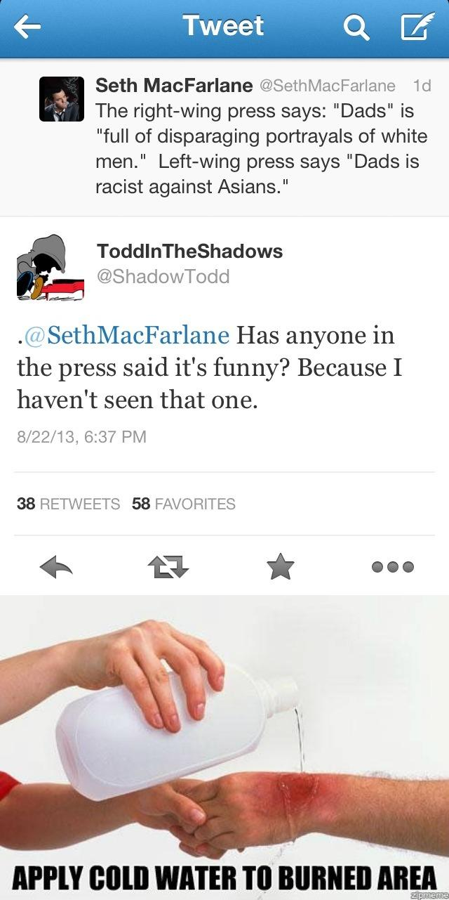 Seth gets burned | Apply Cold Water To That Burn | Know ...