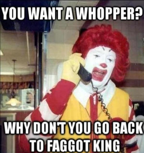 Ronald Mcdonald Vs Burger King on funny redneck romeo jokes