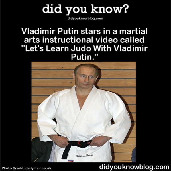 Macho Putin releases 'Let's learn judo with Vladimir' DVD