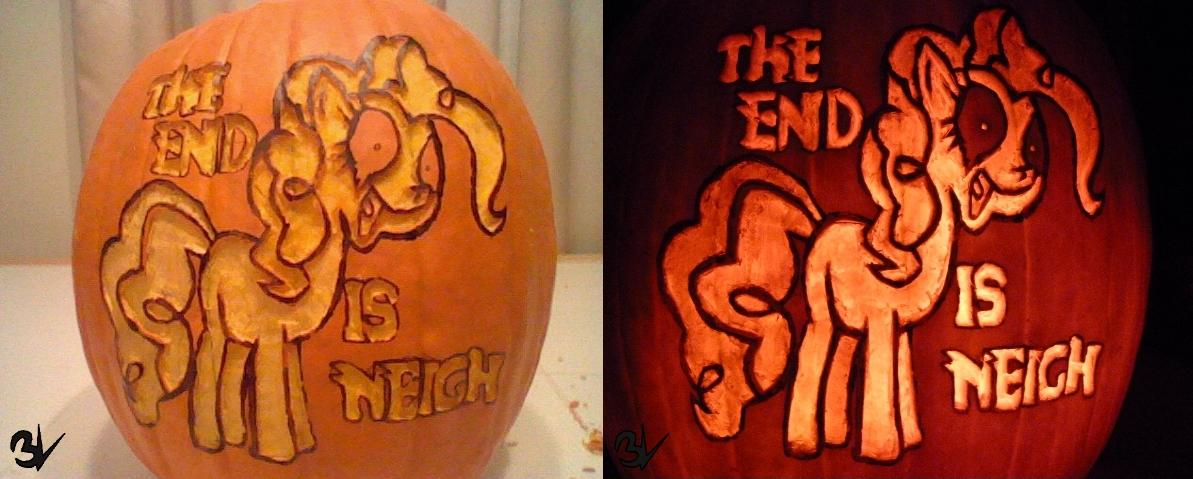 The End is Neigh Pumpkin | Pumpkin Carving Art | Know Your Meme