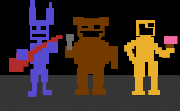 The Toy Fnaf Crew In Atari Form Found Within The Files Of