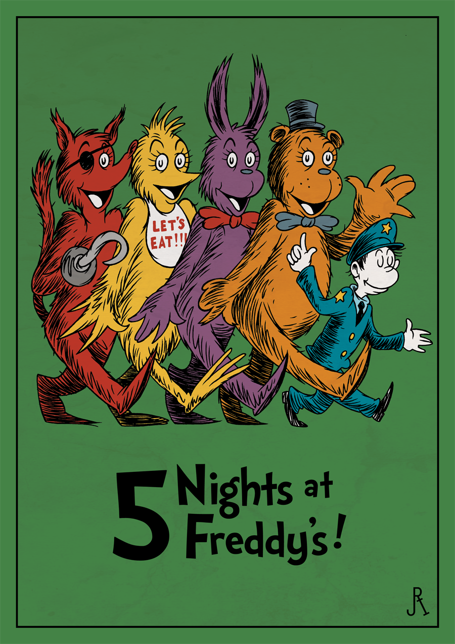 Five Nights At Freddy S Bedroom Decor: Children's Book Cover Parodies