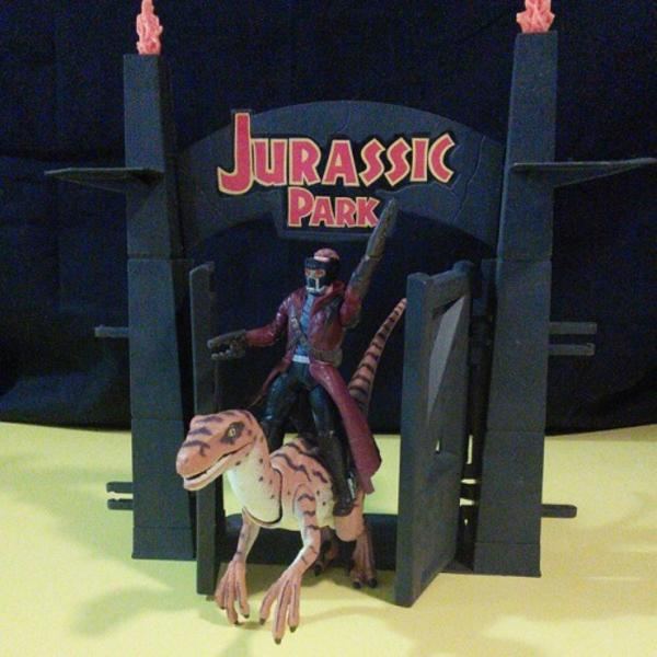 riding a raptor jurassic park know your meme